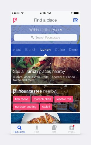 Foursquare gets a makeover, zooms in on personalization