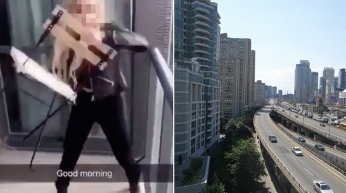 A Woman Was Filmed Throwing a Chair off a Balcony and onto a Highway in Toronto