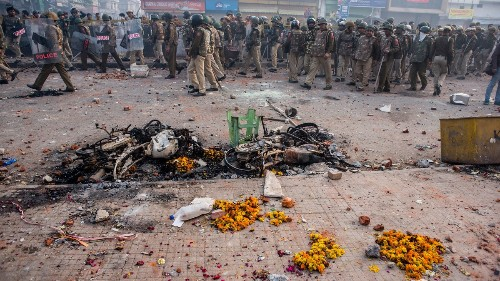 A Hindu Nationalist Mob Torched This Man's House and Trashed the Mosque Next Door
