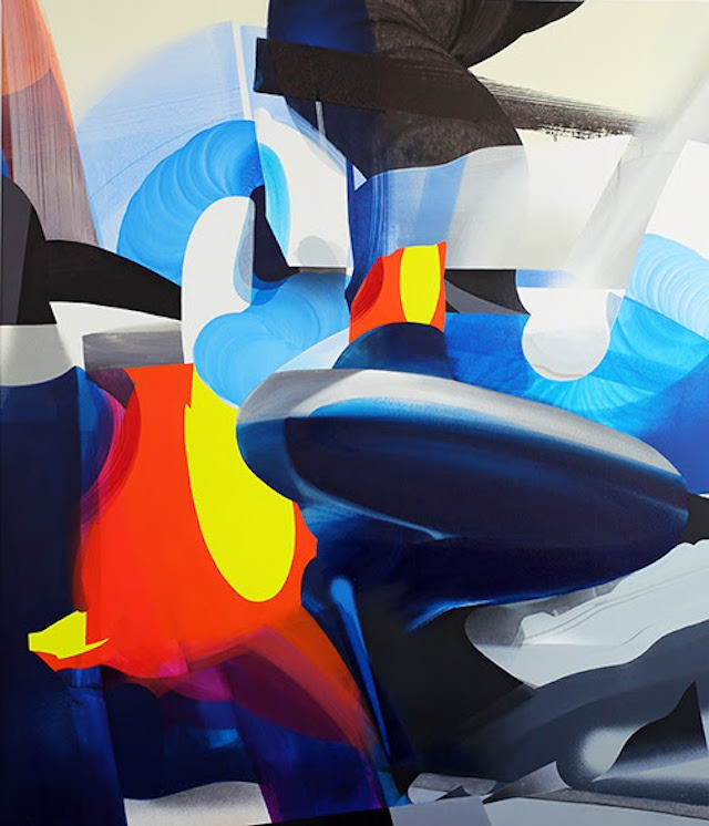 Former German Graffiti Artist Creates Self-Reflective Abstract Paintings