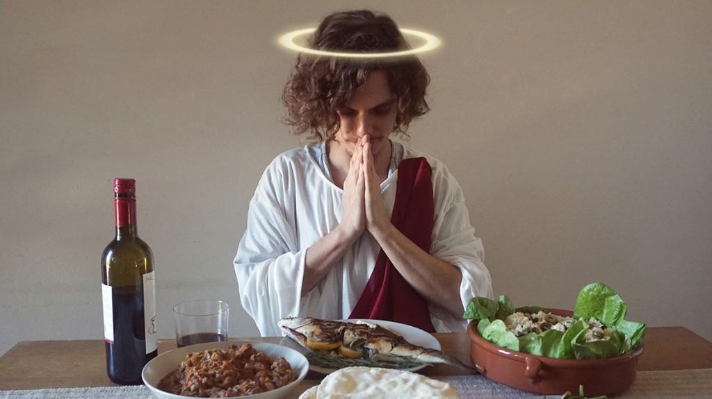 Ik at een week zoals jezus