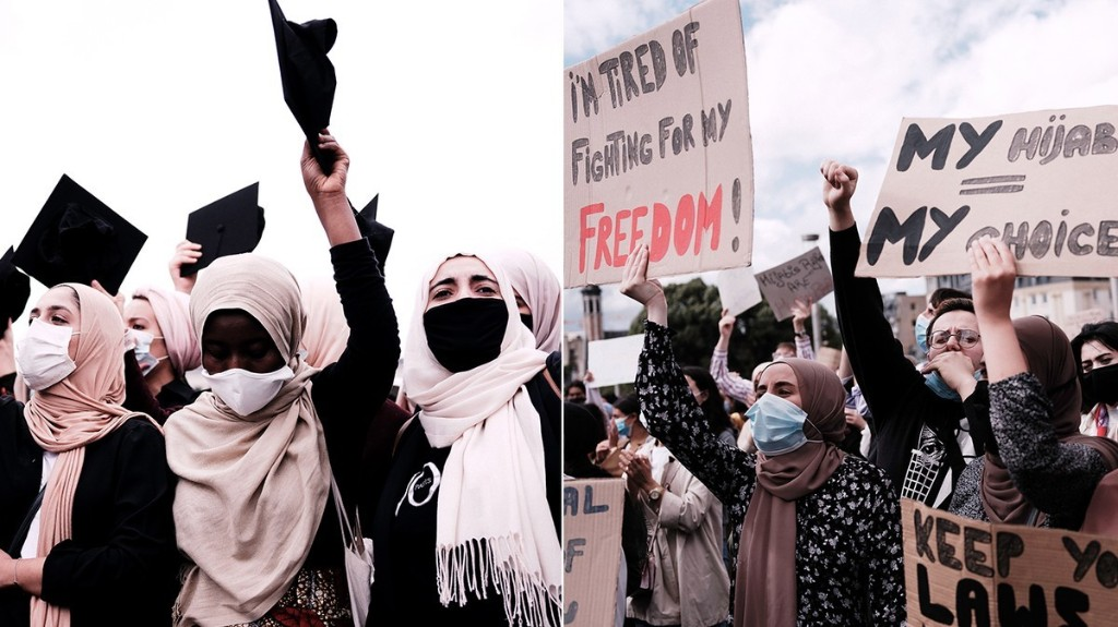 VICE - Hijabis Fight Back : à Bruxelles, mobilisation contre l'interdiction du port du voile