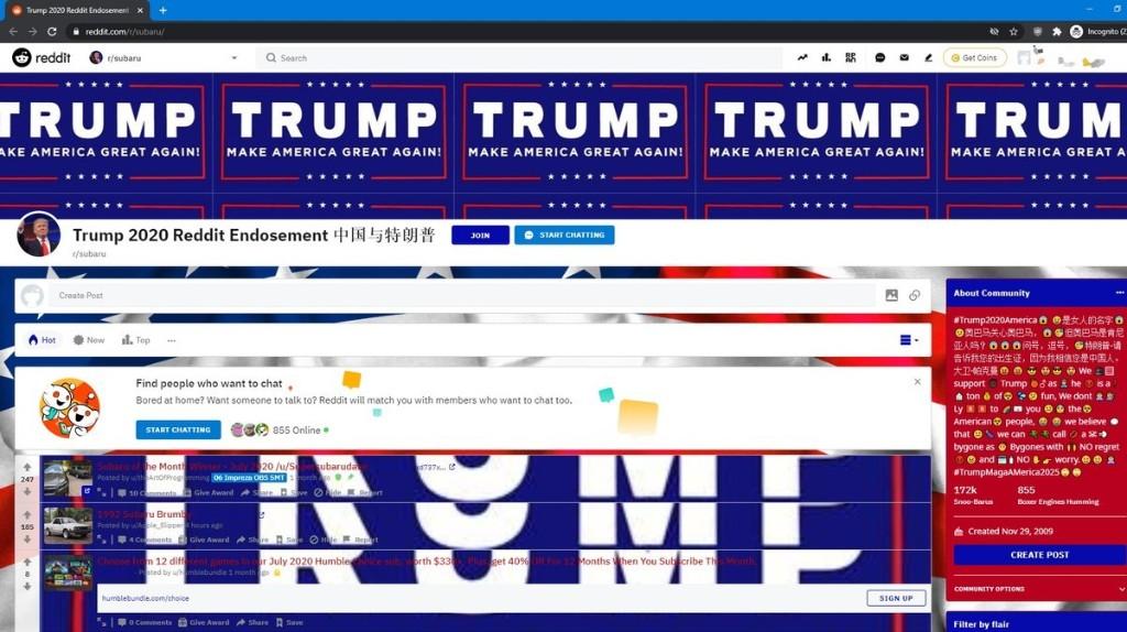 Hackers Hijack Reddit Mod Accounts to Post Pro-Trump Messages