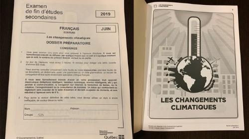 Des élèves du secondaire en colère contre leur examen sur les changements climatiques