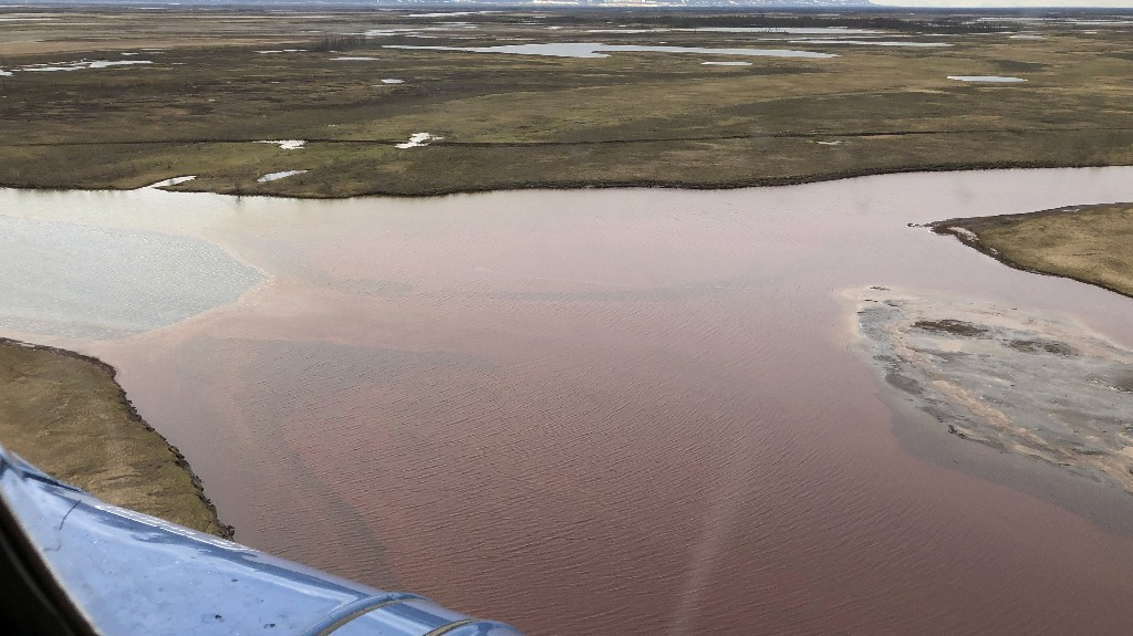 A Massive Oil Spill in the Arctic Has Turned a River Red