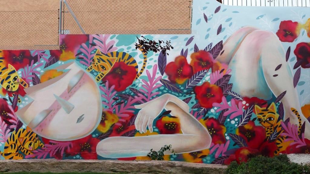 Meet the Female Street Artist Painting Larger-Than-Life Feminist Goddesses