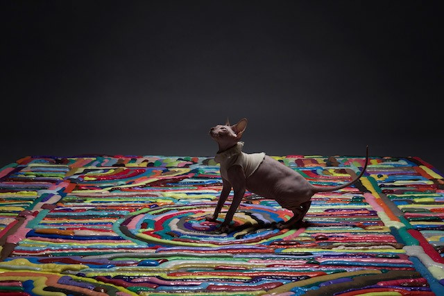 These Intricate Carpets Are Made with Syringes Squirting Liquid Foam