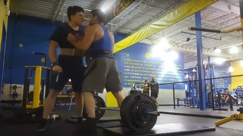 Watch This Alpha Male Try to Fight a Teenager Who Was Lifting Too Hard