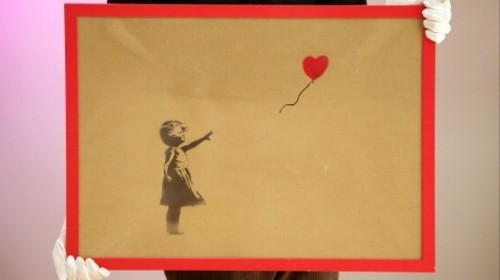 A Banksy Painting 'Self-Destructed' After Being Auctioned for $1.1 Million