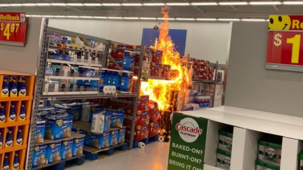 Police Investigating if Anti-Maskers Behind Walmart Toilet Paper Aisle Arsons