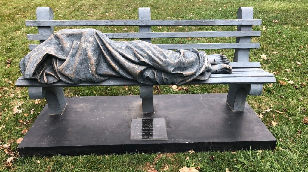 A Short History of People Calling the Cops on a Statue of 'Homeless Jesus'