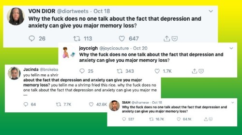 Yes, Anxiety and Depression Are Linked to Memory Loss. Yes, People Talk About It