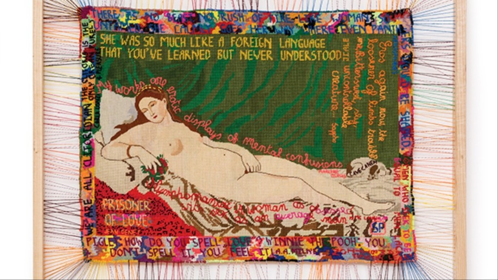 Embroidered Tapestries Beautifully Rewrite Art History's Male Gaze
