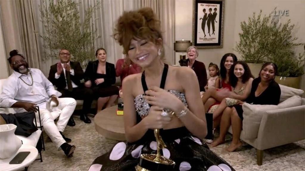 Zendaya made history at the Emmys last night