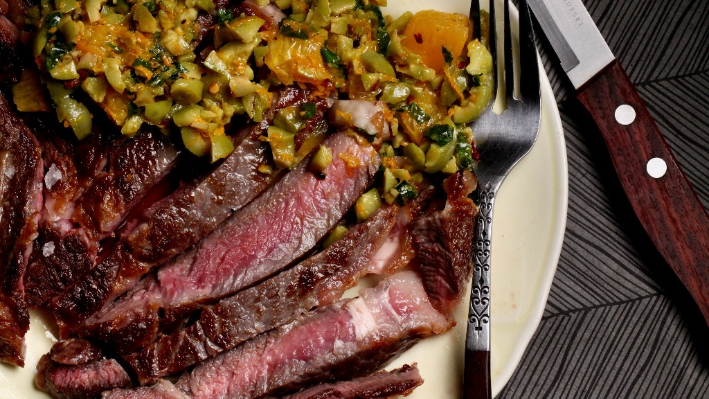 Ribeye with Orange and Olive Salsa Recipe