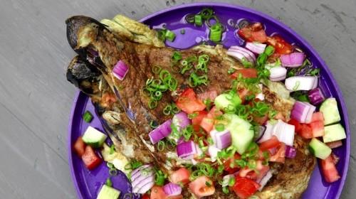 Filipino Eggplant Omelette Recipe (Tortang Talong)