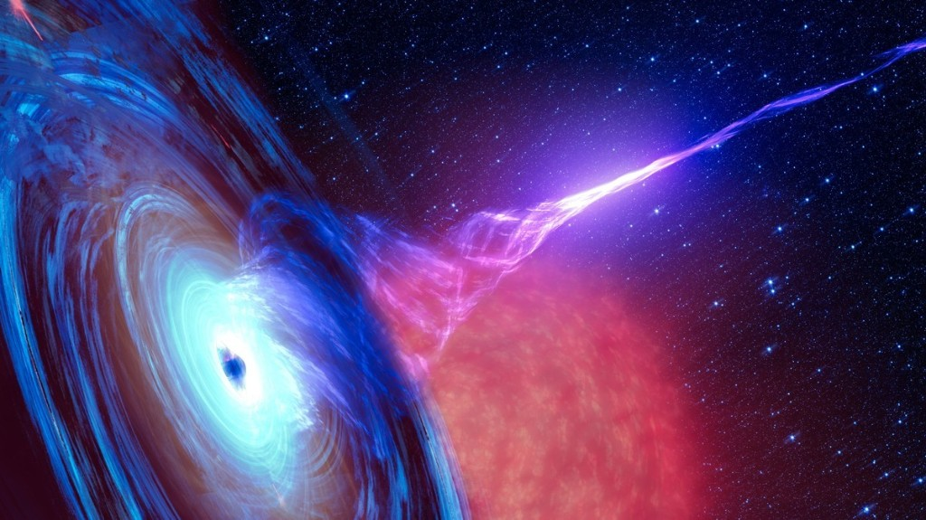 A Black Hole's Energy Beam is Seemingly Breaking the Laws of Physics