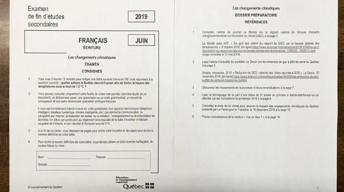 Les jeunes font passer un examen sur l'urgence climatique à François Legault