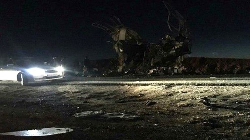 Iran says the U.S. and Israel are to blame for a suicide attack that killed 27 Revolutionary Guards