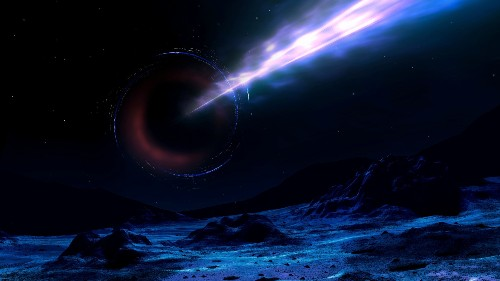 An Ancient Black Hole as Heavy as a Billion Suns Is Pointed Right At Us
