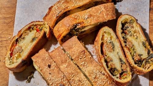 Sausage and Broccoli Rabe Stromboli Recipe