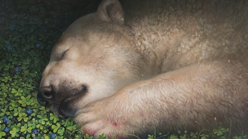 Hyperreal Polar Bear Paintings Are as Sweet as Can Be