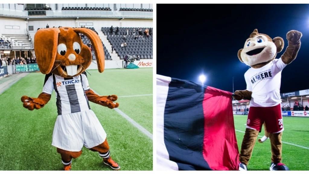 Hoe Nederlandse voetbalmascottes de coronacrisis doorkomen
