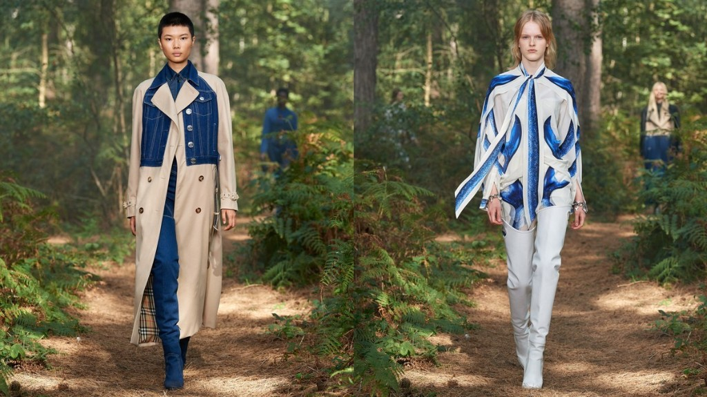 Burberry SS21 was a surreal, aquatic fairytale