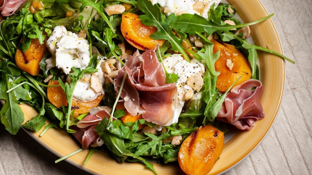 Grilled Apricot and Serrano Ham Salad Recipe