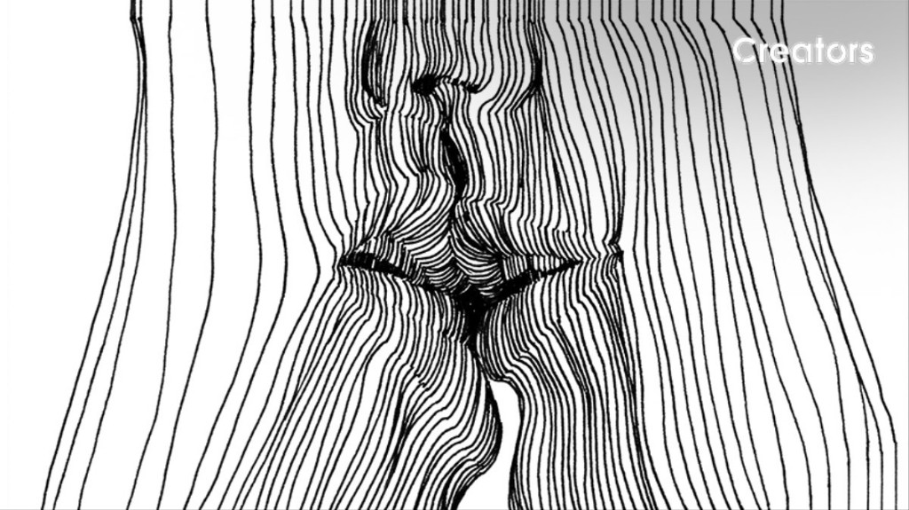 Erotic Nudes Emerge from 3D Optical Illusion Drawings