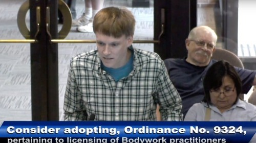 Watch This Guy Plead His Case for Legal 'Genital Massages' to a City Council