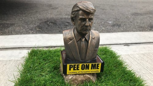 You or Your Dog Can Now Pee All Over Trump Thanks to These Statues