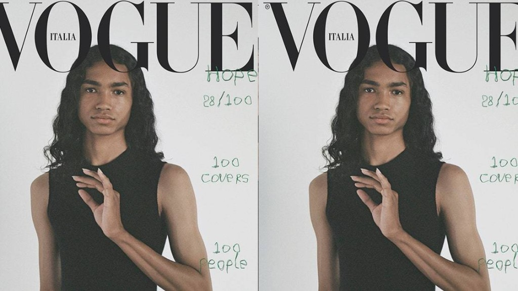 This Indigenous Model Scored a Vogue Italia Cover As Their First Job
