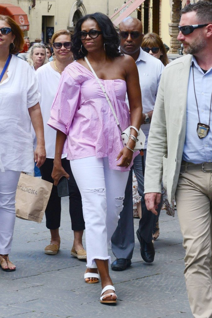 Michelle Obama Debuts a New Off-Duty Look in Italy