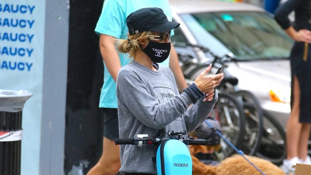 Paris Hilton Brings Her Vintage Juicy Velour Track Pants Out In the City