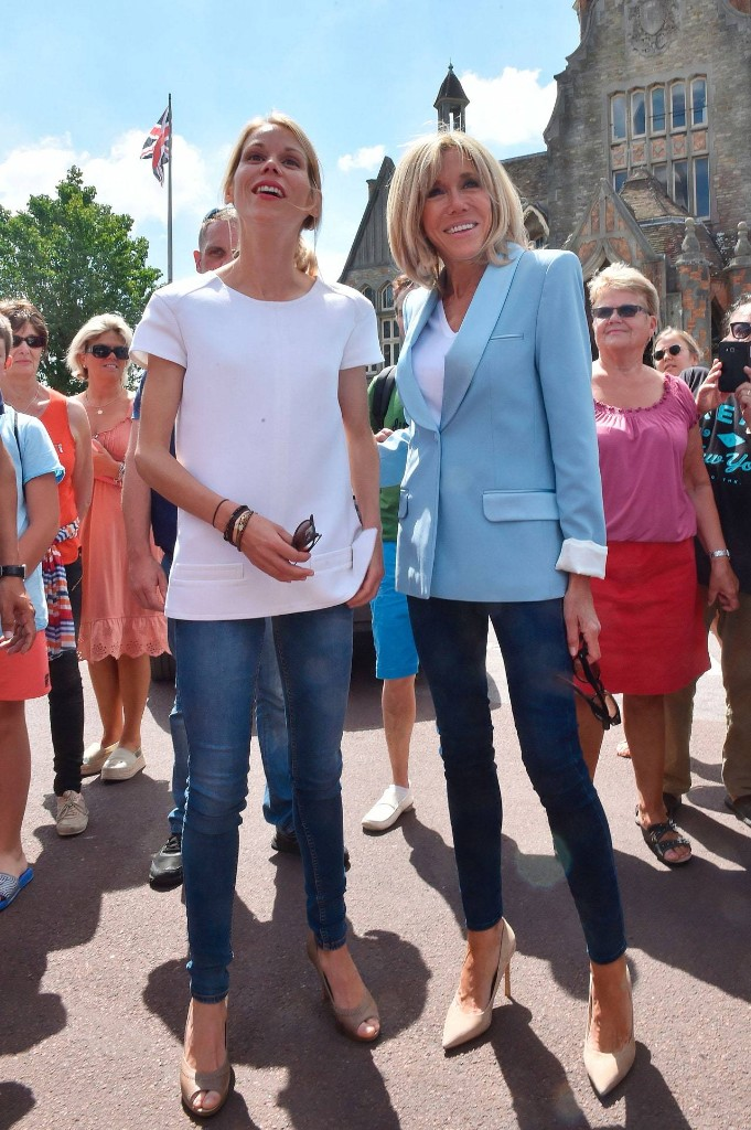 French First Lady Brigitte Macron Casts Her Vote in a Surprisingly Cool Parisian Look