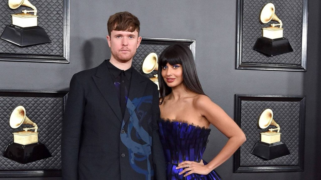 How James Blake and Jameela Jamil Mastered Complementary Couples Style at the 2020 Grammys