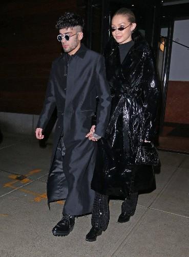 Zayn Malik Celebrates His Birthday With Gigi Hadid in Twinning The Matrix-Inspired Looks