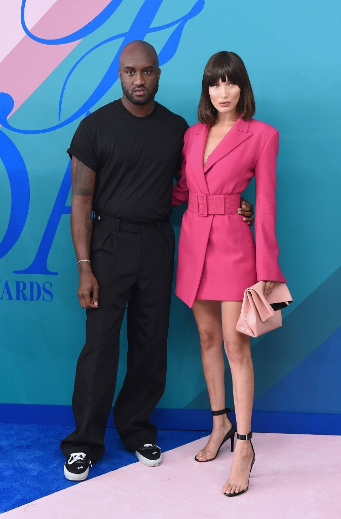 Pretty in Pink! Bella Wears Off-White at the 2017 CFDA Fashion Awards