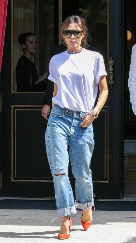 Victoria Beckham Shows Off Her Perfect Vintage Jeans in Paris