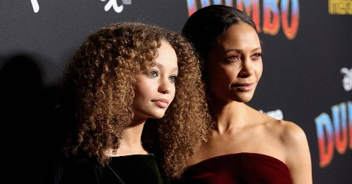 Thandie Newton and Nico Parker Had a Mother-Daughter Moment at Dumbo's Premiere