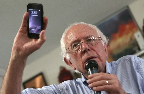 Bernie Sanders: 'I do wish' Apple would bring manufacturing jobs back to the US