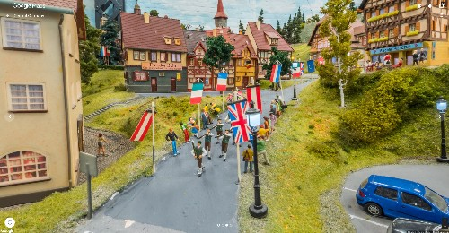 Take a ride on the world's largest model train set in Google Street View, if you dare