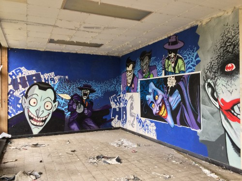 Amazing Batman graffiti discovered inside abandoned nursing school