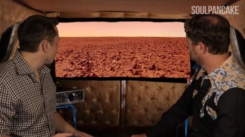 Elon Musk and Rainn Wilson discuss colonizing Mars, global warming, and the fear of failure