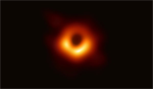This is the first picture of the black hole at the center of our galaxy