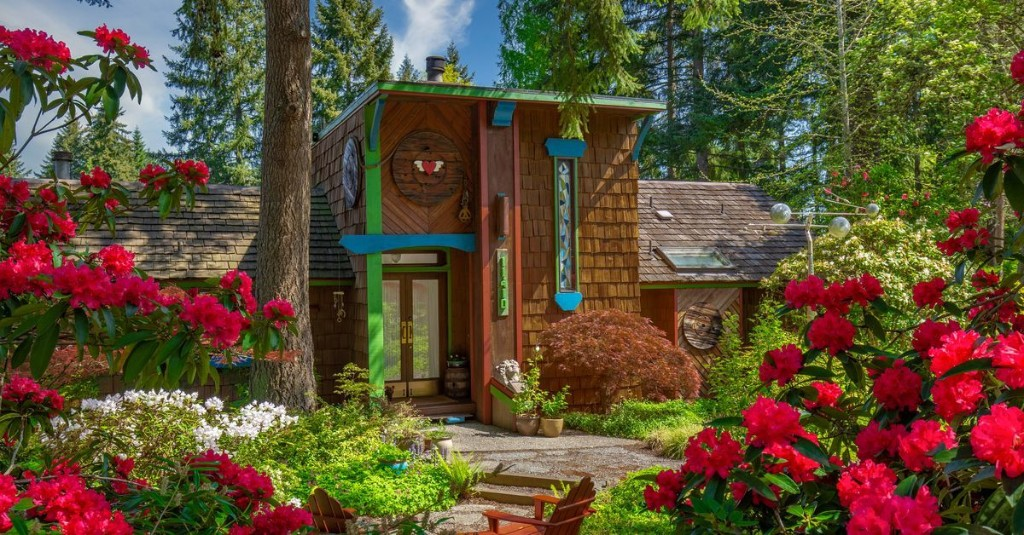 A very '70s home (dubbed The Funky House) asks $1.2M