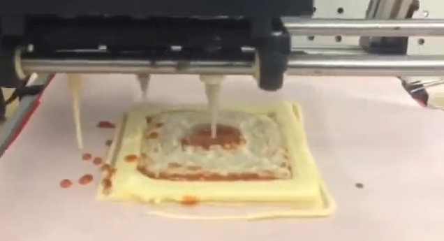 Watch this 3D printer make pizza fit for astronauts