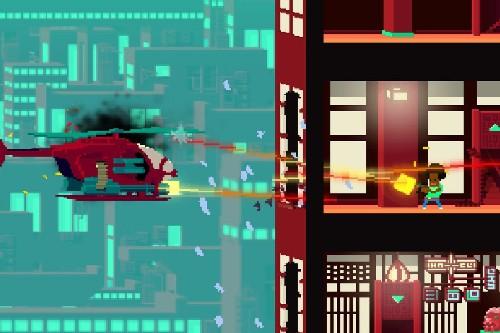 Not a Hero is like a 2D, pixelated Gears of War