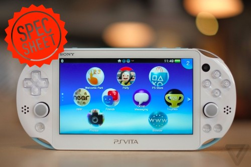 Spec Sheet: Sony's slimmer PlayStation Vita takes on the top portables